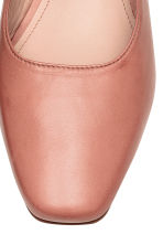 Leather mules - Vintage pink - Ladies | H&M CN 4